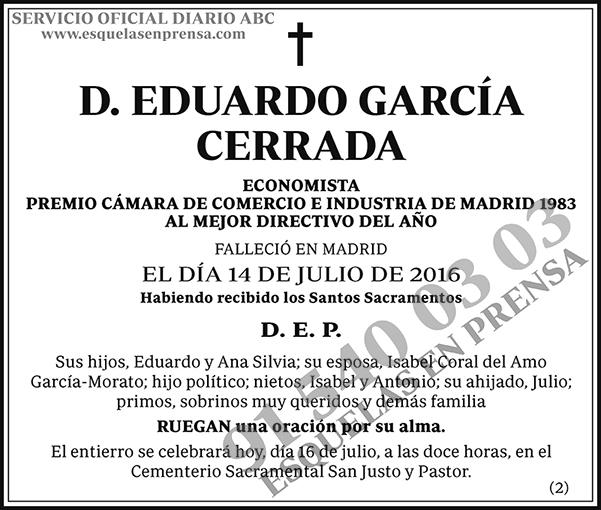 Eduardo García Cerrada